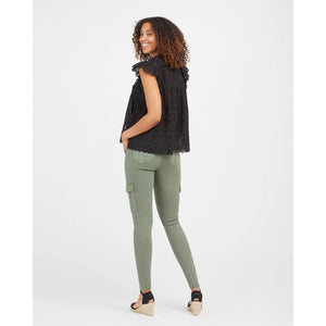Spanx Stretch Twill Ankle Cargo Pant in Soft Sage