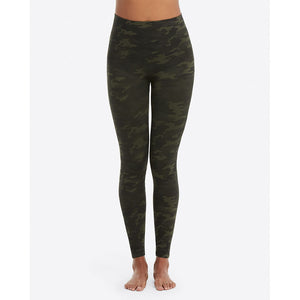 Spanx Look At Me Now Green Camo Seamless Leggings FL3515