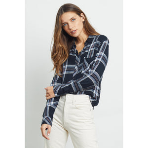 Rails Hunter Plaid Button-Down in Black Celeste Rouge