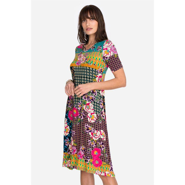 Johnny Was Maggie Bamboo Swing Dress J32321B-2:MULTI