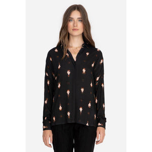 Johnny Was Schofield Button-Down Shirt L13320-9:BLACK