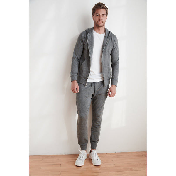 Velvetmen Crosby Charcoal Luxe Fleece Jogger