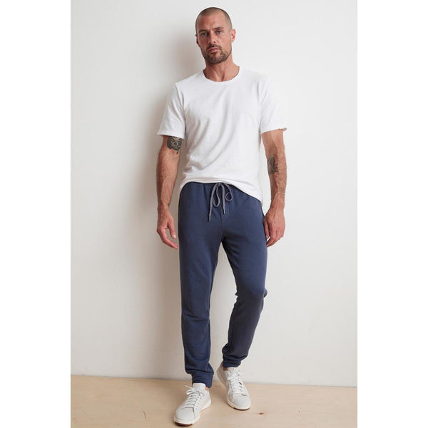 Velvetmen Crosby Luxe Fleece Jogger in Meridian (Blue)