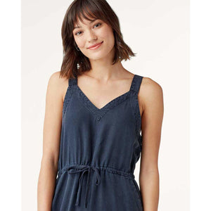 Splendid Marion Tencel and Linen Dress in Navy RS0D090