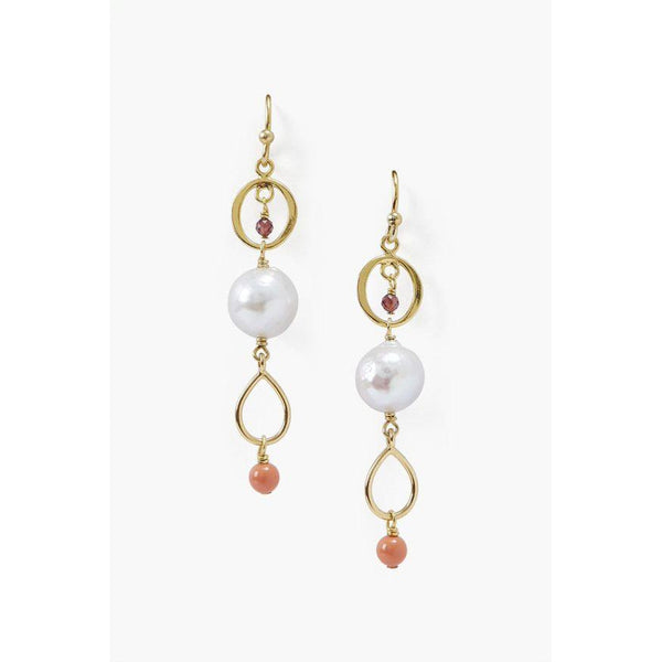 Chan Luu Dangle Earrings White Mix EG-5287