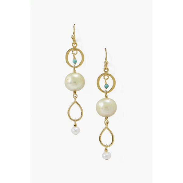 Chan Luu Yellow Mix Dangle Earrings EG-5287
