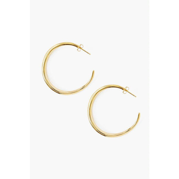 Chan Luu 18K Gold Plated Sterling Silver Hoops EG-5270