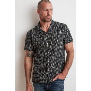 Velvetmen Franco Button up Shirt in Navy