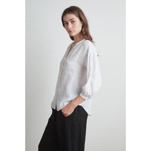 Velvet Matea Woven Linen Button Down Top