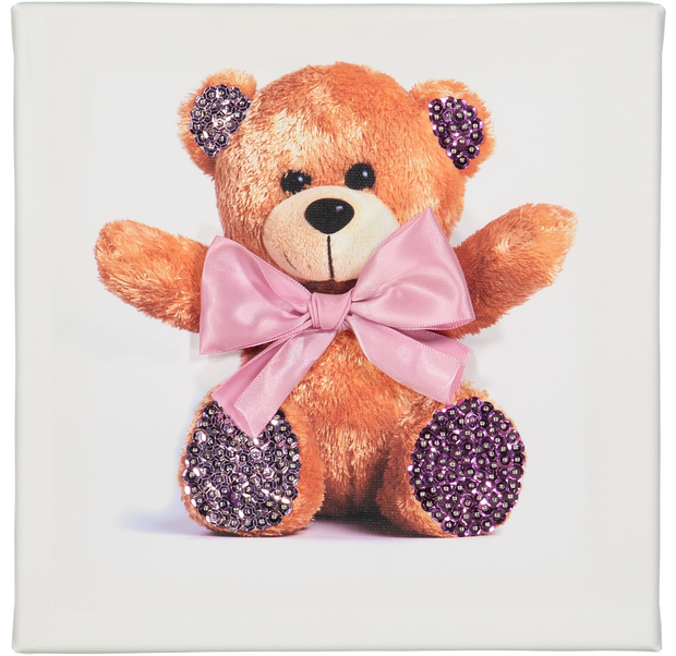 Teddy sequin art canvas collection
