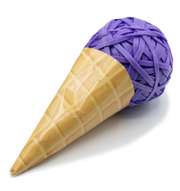 Rubber band ice cream cone