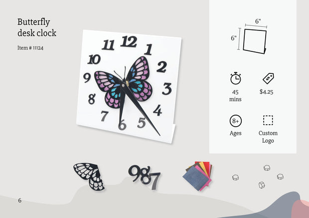 Butterfly Desk Clock