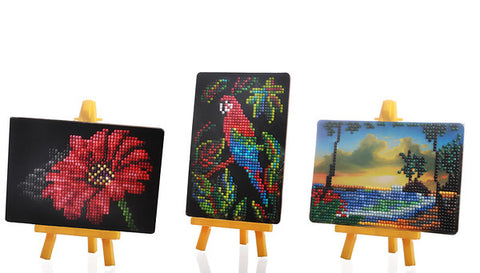 Mini Easel Diamond Art Set