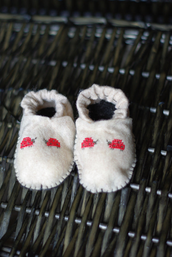 LadyBird Felted Baby Booties up to 6 month