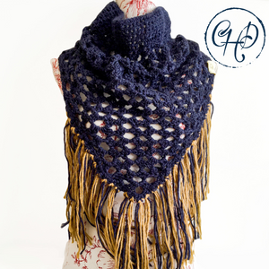 Oversized navy cowl
