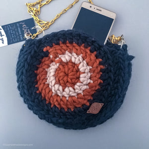 Round crochet purse bag