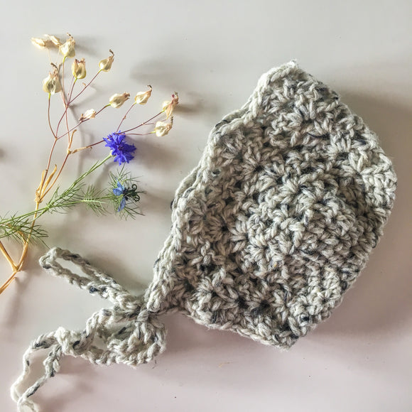Grey Baby Bonnet