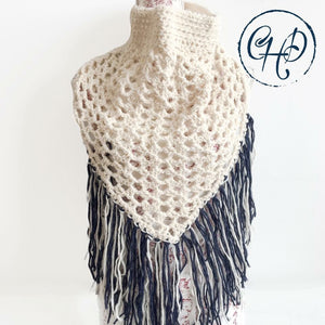 Oversized cowl in cream