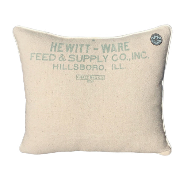 "US Vintage ""Hewitt Ware Feed & Supply Co."" Hillsboro, Illinois"