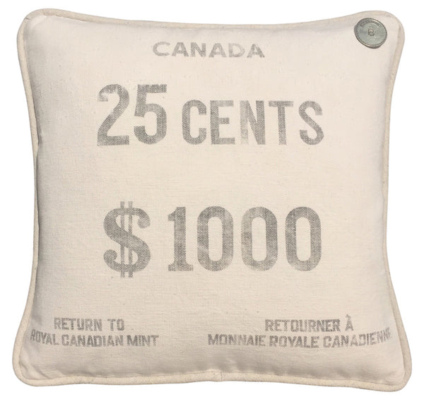 Canadian Vintage Bank Coin Sack 25 CENTS $1000 #2