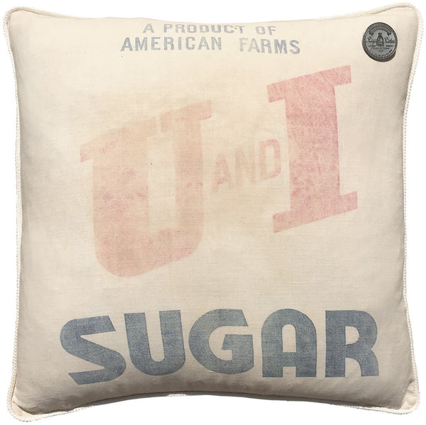 """U and I"" Sugar Sack Piollow"