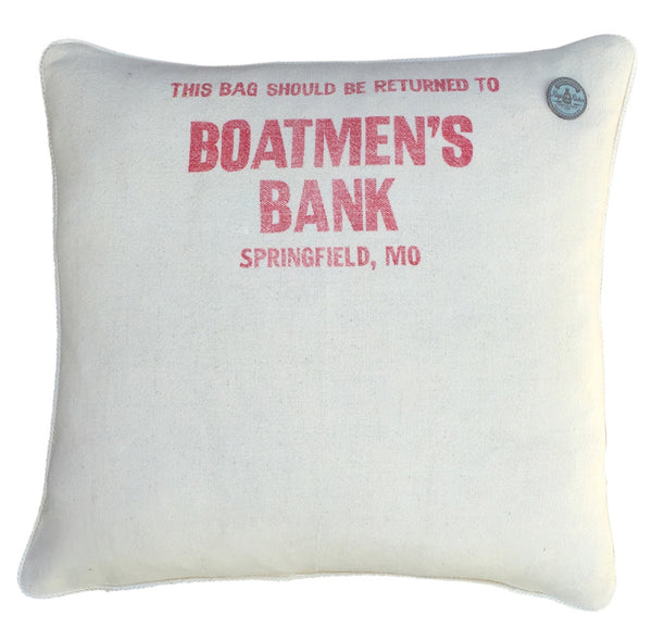 "US Vintage Bank Coin Sack ""Boatmen's Bank"" #1"