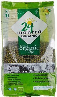24 Mantra Organic Whole Green Moong Dal