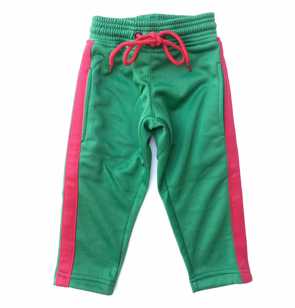"""GUCCI GANG"" Red & Green Track Pant"