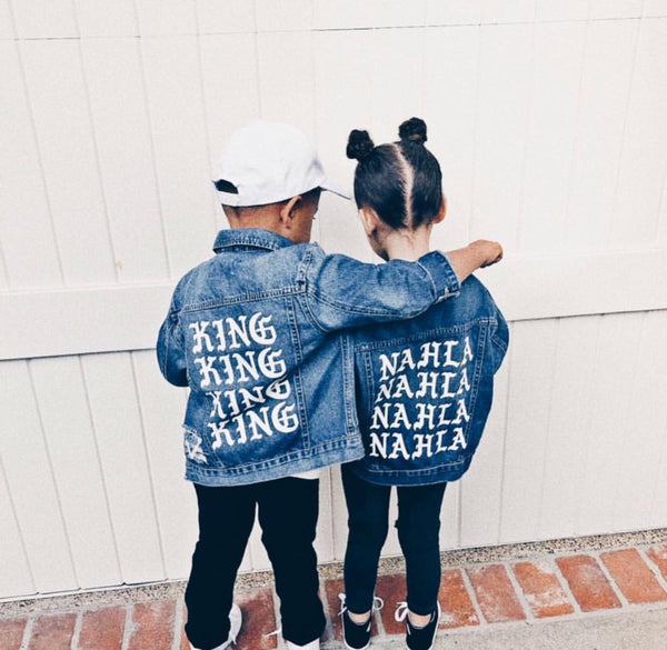 "Kids ""PABLO"" Custom Denim Jackets"