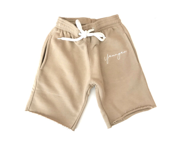 'YSM Signature Shorts' Beige