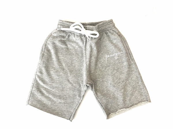 'YSM Signature Shorts' Heathered Grey