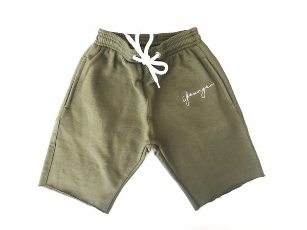 'YSM Signature Shorts' Olive Green