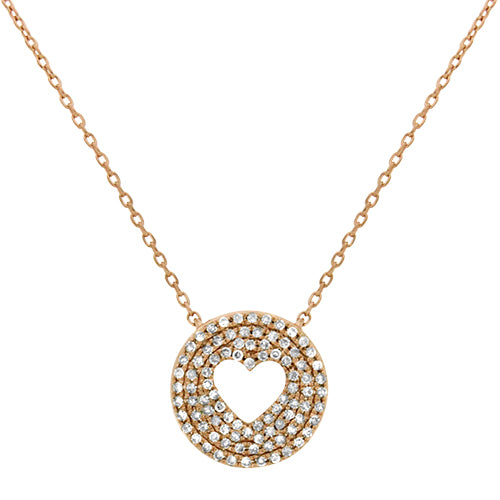 Rose Gold Heart Diamond Necklace