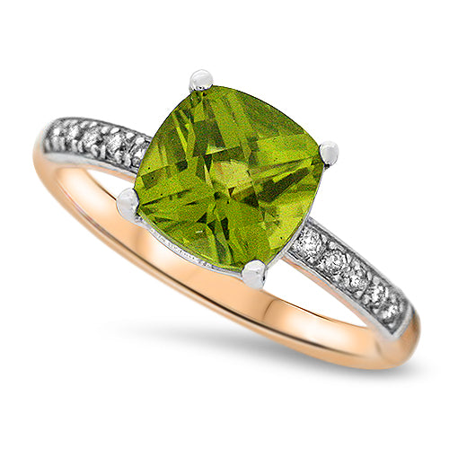 Rose Gold Peridot Ring