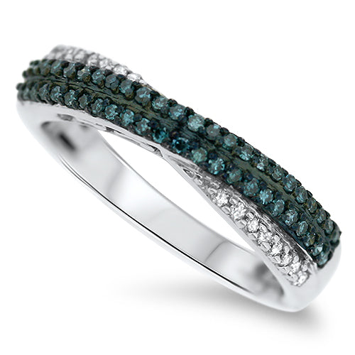 Blue Diamond Fashion Ring