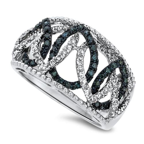 Drop Linked Diamond Fashion Ring