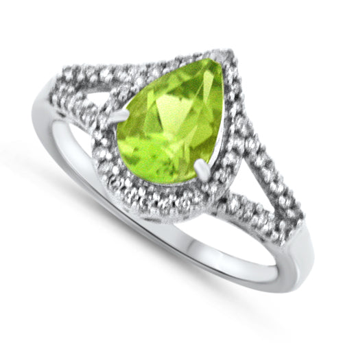 Contemporary Peridot Ring
