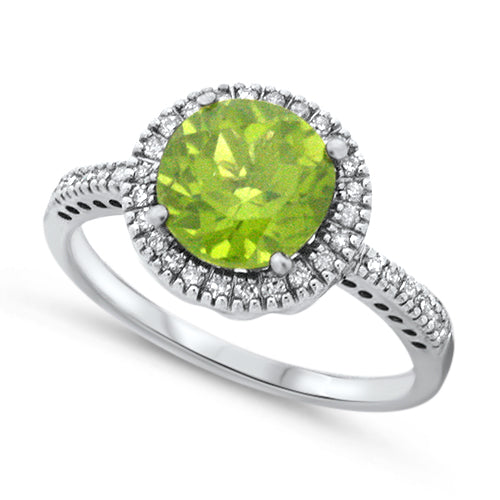 Diamond & Peridot Ring