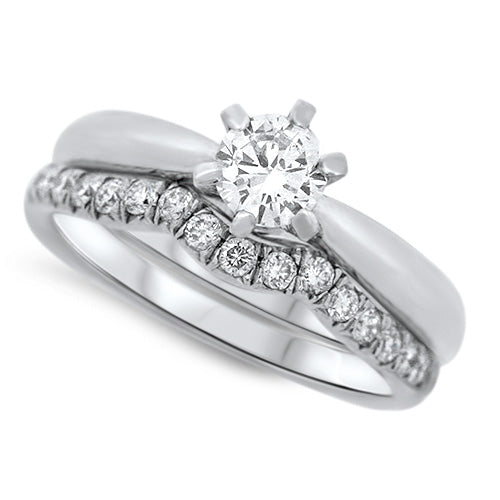 Simple Yet Stunning Diamond Wedding Set