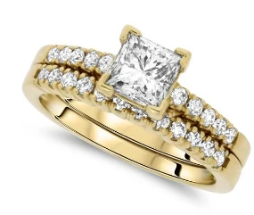 Yellow Gold Diamond Wedding Set