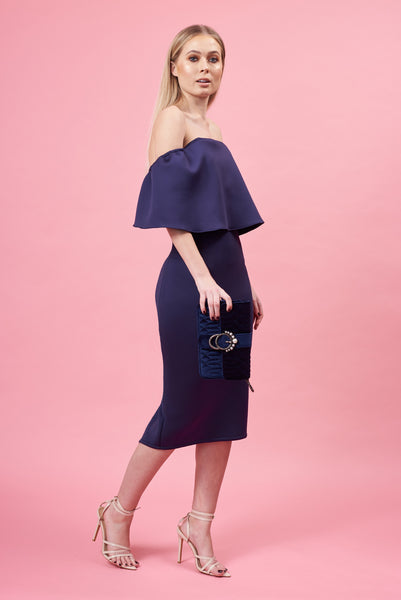 Navy Frill Dress