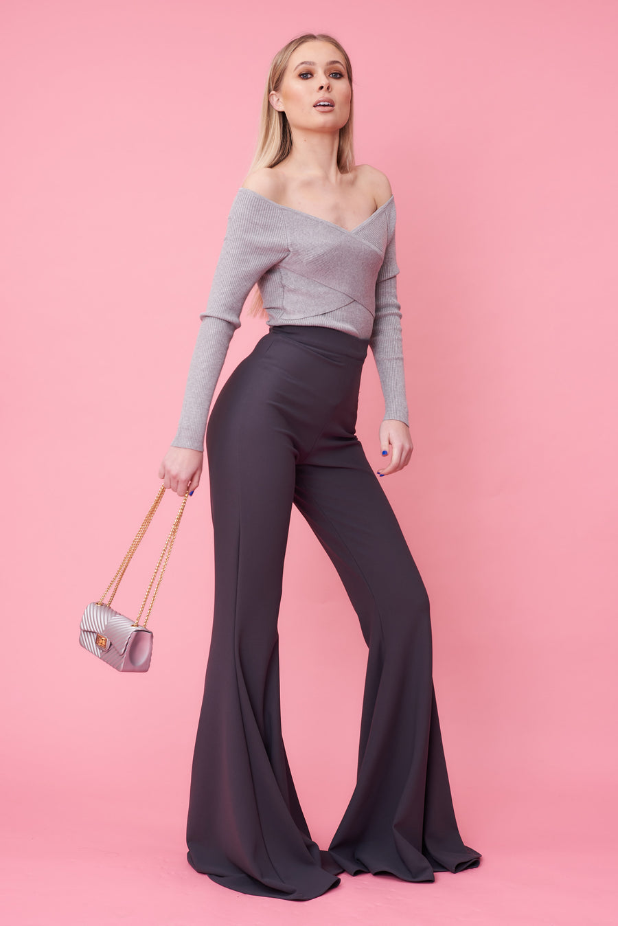 Charcoal Stretch Flares