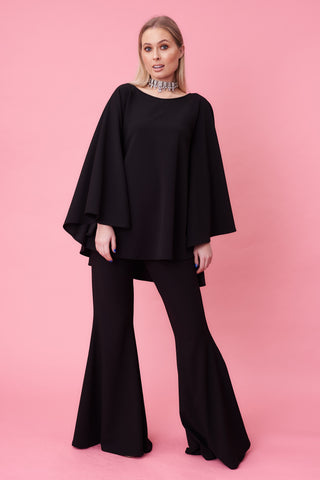 Black Longer Length Taba Suit