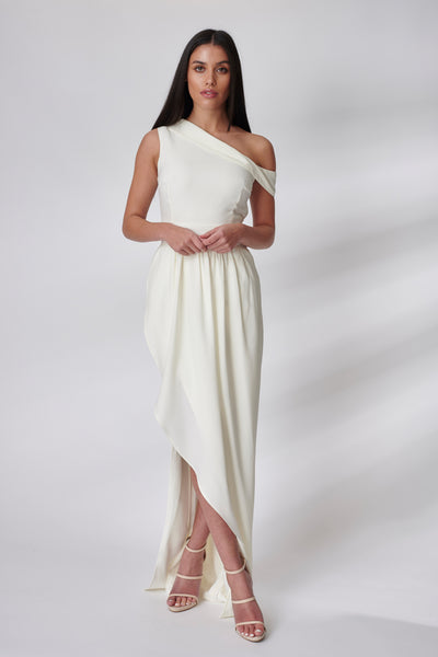 Ivory Crepe Adale Bridesmaid Dress