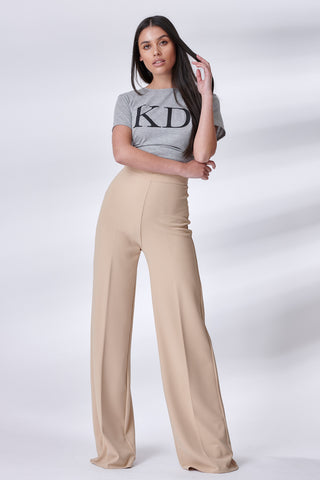 Nude Stretch Straight Leg Trousers