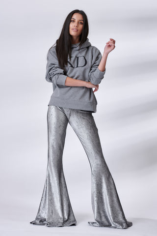 Silver Metallic Stretch Flares