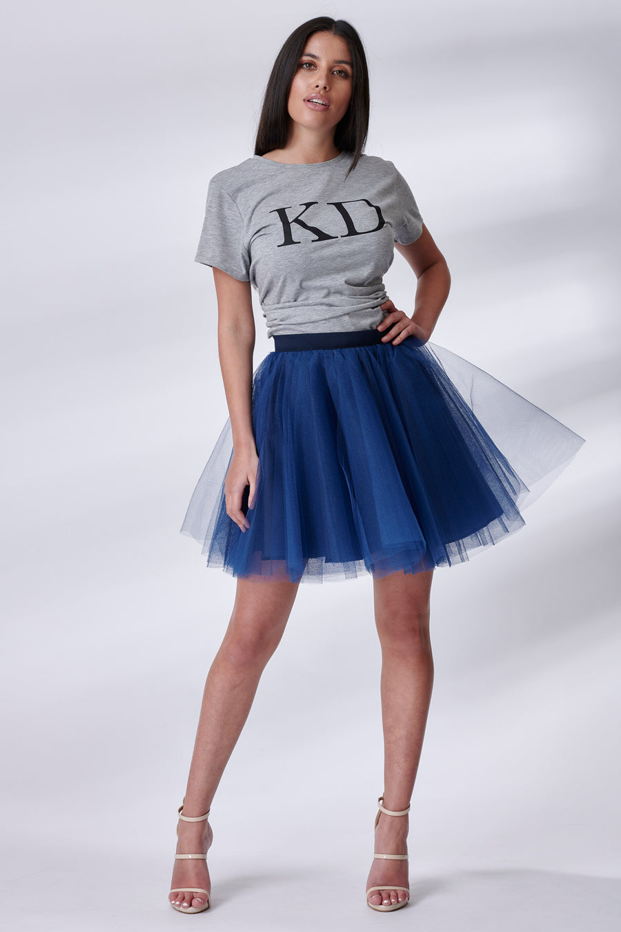 Mini Navy Tulle Skirt