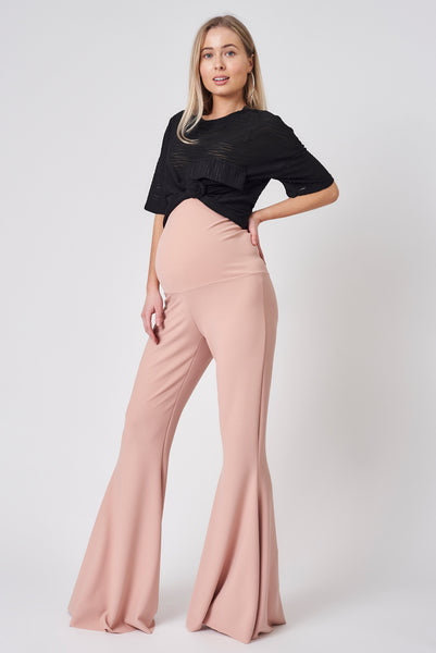 Maternity Stretch Flares (Dusty Pink)