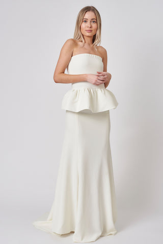 Ivory Crepe Bridesmaid Set