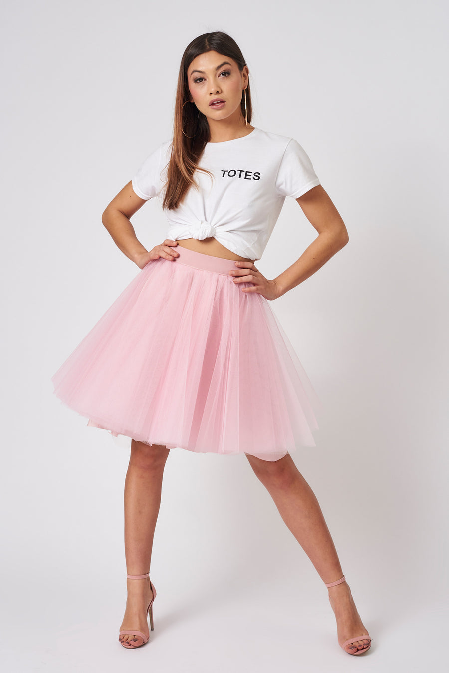 Pink Mini Tulle Skirt
